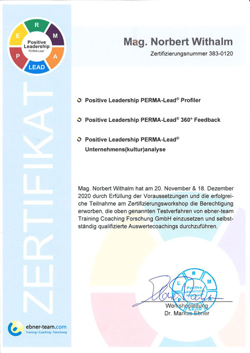 Positives Leadership Zertifikat